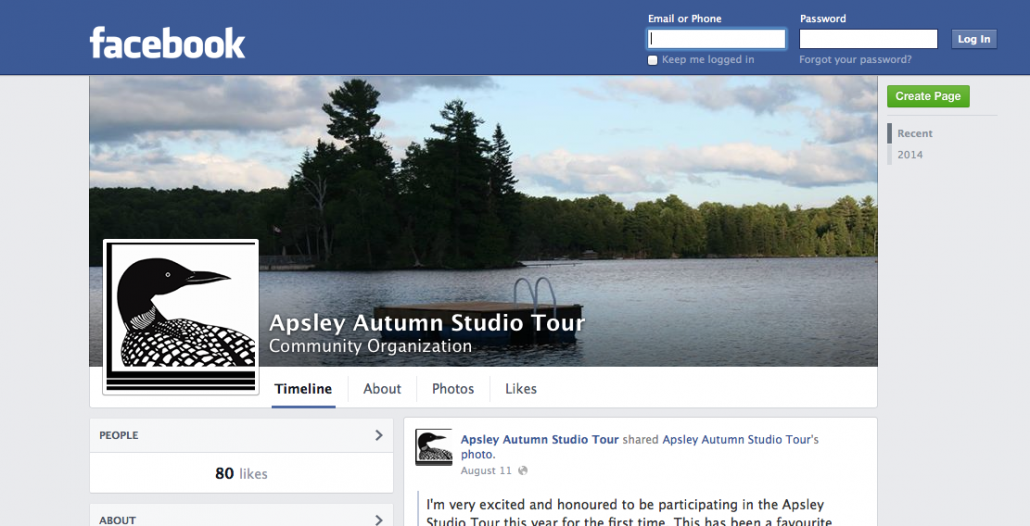 Apsley Autumn Studio Tour Group is Now On Facebook